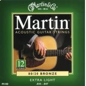 MARTIN M 180 EXTRA LIGHT BRONZE   010/047 12 CORDE