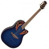 OVATION CELEBRITY DELUXE CC448TQ QUILTED MAPLE BLUE BURST