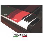 KF PV15 PANNO COPRI TASTIERA PIANOFORTE BORDEAUX