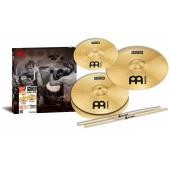 "MEINL HCS BONUS PACK HIHAT 13"" + CRASH 14"" IN OMAGGIO SPLASH 10"" E PROMARK 5AW"