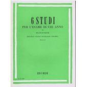 AA.VV. - 6 STUDI PER L'ESAME DI VIII ANNO DI PIANOFORTE