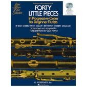 AA.VV - 40 LITTLE PIECES IN PROGRESSIVE ORDER FOR BEGINNER FLUTISTS (MOYSE)