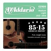D'ADDARIO EZ 920 MEDIUM LIGHT 012/054