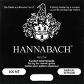 HANNABACH SET. 800 MT/NERO MEDIUM ARGENTATO