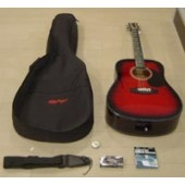 Kit Chitarra Acustica ROLING'S MG-410K RED BURST