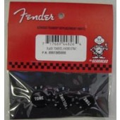 FENDER KNOBS STRAT BLACK TONE/VOL